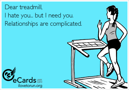 treadmill love hate lol